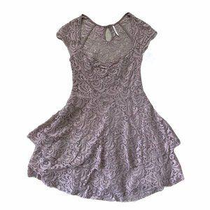 NWT Free People Lace Tiered Mini Dress Size 0